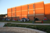 Tents in the Quad